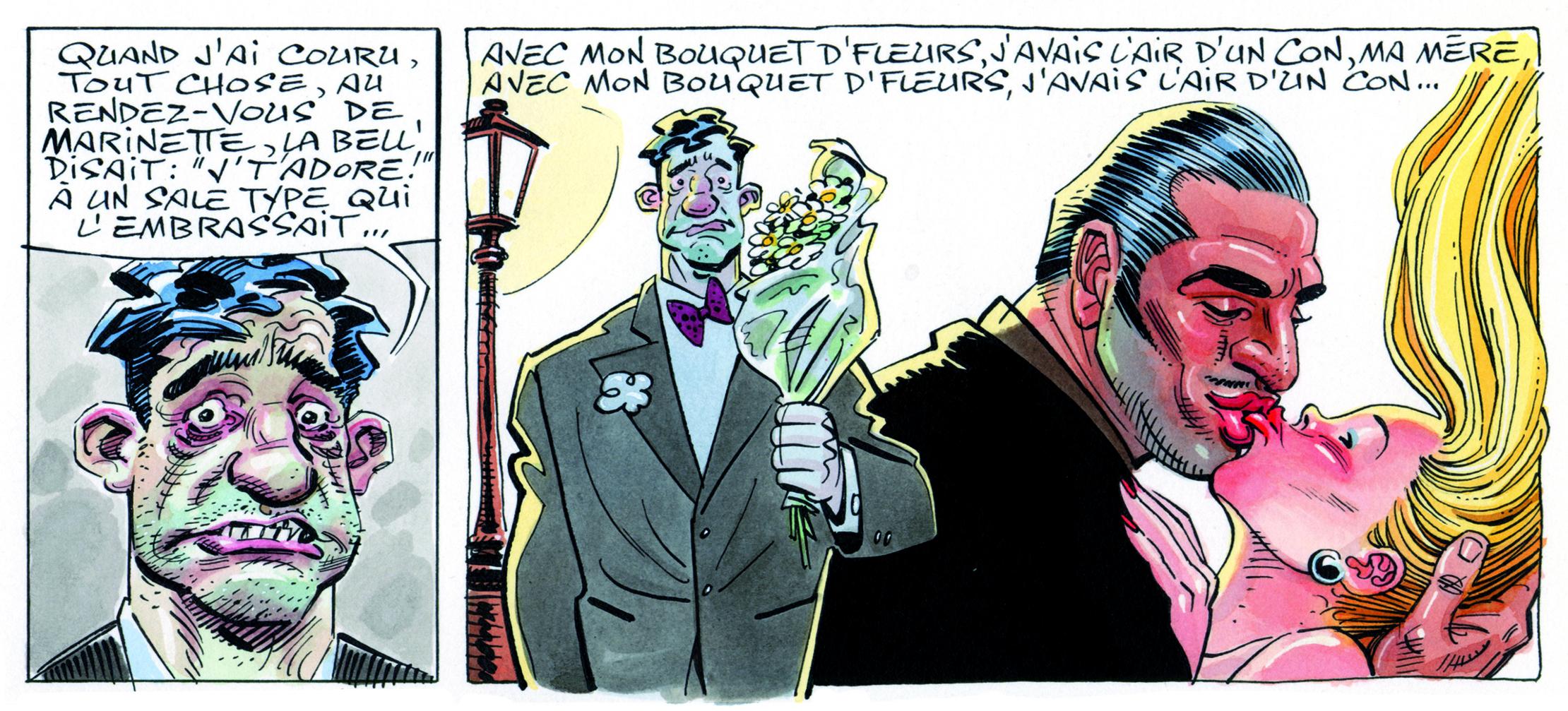 Strip du dessinateur Jean Solé, grand fan de Brassens