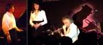 A gauche, Philippe Milanta lors de ce concert (ph. Norbert Gabriel) : à droite, Elisabeth Caumont et Luca Bonvini au petit Journal Montparnasse en 2010 (ph. DR)