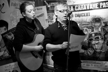 Pour un million, je vais bien vous faire une chanson ! (à Gauchy en février 2013 avec Evelyne Gallet. Photo XXX)
