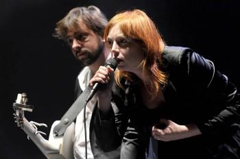 Arnaud Jouffroi et Evelyne Gallet (photo d'archives Francis Vernhet FestiVal de Marne)