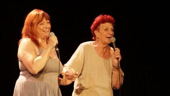 Céline Faucher et Anne Sylvestre (photos Catherine Cour)