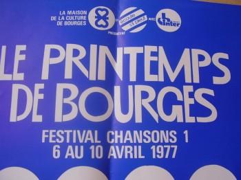 Affiche du 1er Printemps de Bourges en 1977 (collection Voleurdefeu)