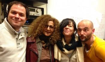 Mathias Vincenot, Juliette Solal, Clarika et Thierry Cadet (photo MIchel Kemper)