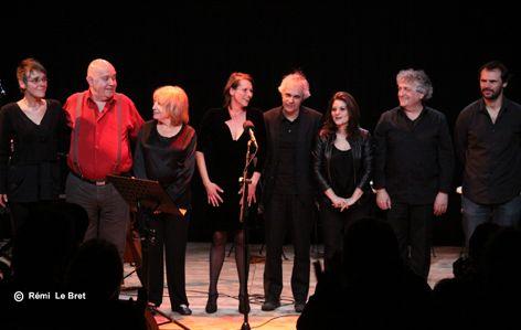 Nathalie Fortin, Gérard Morel, Francesca Solleville, Béatrice Moulin, Rémo Gary, Audrey Antonini, Michel Boutet et Thomas Pitiot (photo )