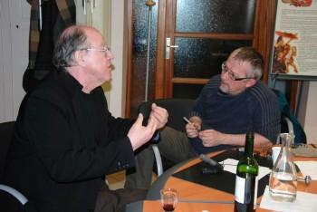 Jacques Bertin et Michel Kemper, lors d'un entretien à Viricelles (photo Serge Féchet)