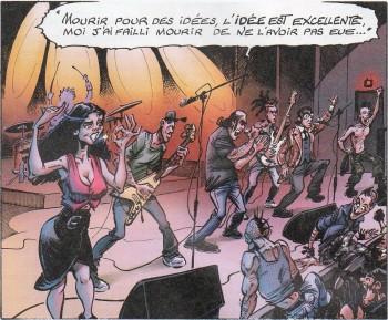 "Brassens Not Dead (dessin de Coyote, extraite de la bd ""Kevin"")"