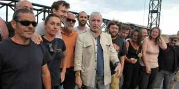 Lavilliers et intermittents à Sète (photo Le Midi livre, reprise sur le site de Bernard Lavilliers)