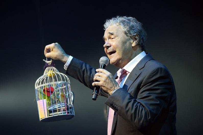 Pierre Perret ce mercredi 9 juillet 2014 à l'Olympia (photo non créditée préelévée sur le site d'RTL)