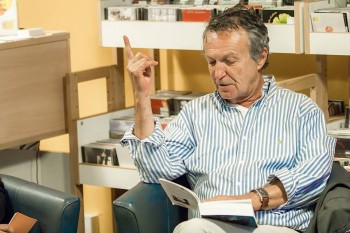 Marc Legras, récemment au Centre de la Chanson pour y présenter son livre (photo Guy Fasolato)