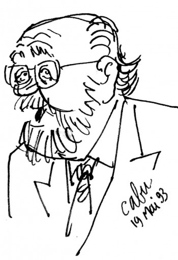 Jean-Michel Boris croqué par Cabu (extrait)