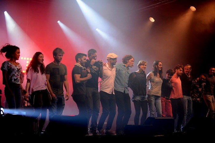 Les stagiaires hier au soir, sur la scène d'Astaffort, au terme de ces Rencontres (photo)