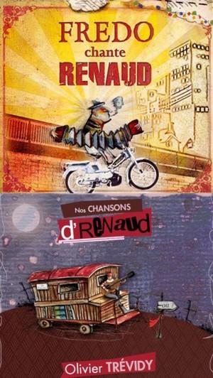 Oublions vite les deux disques de Génération Renaud, pour l'essentiel calamiteux, pressés à la va-vite pour faire un max de blé. En attendant un nouvel album que Renaud viendrait d'enregistrer à Bruxelles, accordons de l'importance à d'autres opus gravés par d'authentiques fans du chanteur énervant. L'an passé, nous vous présentions celui des Licenciés de chez Renaud (Live at ze Motte) trois bretons, bande de toujours jeunes qui sont loin d'engendrer la mélancolie. Ce mois d'octobre sort (en cd et en 33 tours collector) le double album d'une autre breton, Olivier Trévidy (Mes chansons d'Renaud), comme une solide anthologie qui témoigne de la parenté entre le quimpérois et Renaud. Et n'oublions pas ce disque de dix ans d'âge de Fredo, qui vieillit comme un bon vin (le disque certes, le bonhomme aussi. Trévidy présente son excellent travail sur Renaud les 18 et 19 octobre au Forum Léo-Ferré d'Ivry-sur-Seine (voir les autres dates sur son site).