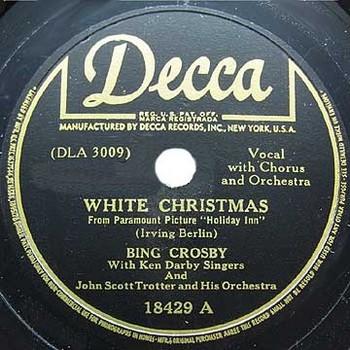White Christmas Crosby Berlin 1942 Decca18429A