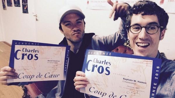 Benoit Dorémus et Walter W. Hamon lauréats à Pézenas (photo DR)