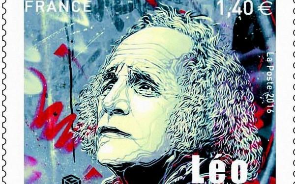 Le timbre édité par La Poste le 12 septembre dernier,  à l'occasion des 100 ans de Ferré
