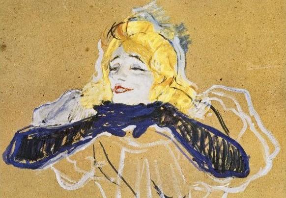 Yvette Guilbert (dessin Toulouse-Lautrec)