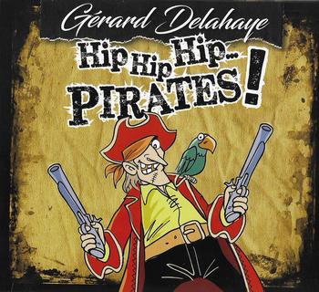 GENÈSE DE LA PURE PIRATERIE Tout a commencé avec ce spectacle en 2011 que j'avais intitulé « Voilà les pirates ». Et voici que des mauvais génies m'ont tancé : « Hé, captain Gérard ! dans ton pestacle de chansons, il n'y en a qu'une seule qui parle de pirates ! bouhhh ! l'arnaque ! ». Et ils avaient raison. Alors j'ai donc rebaptisé mon navire de l'époque « 1000 chansons », comme l'album du même nom, et nous avons vogué, cabotant gentiment ici et là. Mais sur le quai, les pirates protestaient avec véhémence : «hé là ! et nous alors ? Tu nous laisses en rade, sans embarquement, comme des baleines échouées sur le rivage ? «. C'était insupportable : non ! je ne pouvais pas les abandonner. Alors, je m'en suis retourné en enfance, au long de cinq années de chasse. Et me suis lancé à la recherche de vrais pirates en chansons. Cinq années, oui, cinq ans de gribouillage, de naufrages, de courses, de ports, de cabarets, de lectures sanguinolentes, de batailles et d'abordages. Parfois, dans ma baignoire, je réussissais à hisser une couverture en polaire en guise de voile. Le jour, je me cachais dessous pour dire qu'on serait la nuit. Et la nuit, parfois des spectres me tenaient compagnie. Brrr... Mais ma quête n'a pas été vaine : j'ai trouvé de vaillants équipages, j'ai conquis de butins de mots et de notes. Me voici rentré au port les cales pleines de lingots chantés, et je les distribue dans ce fier voilier baptisé « Hip hip hip... pirates ! ». Alors crions tous en choeur : Hip hip hip... hourrah ! GÉRARD DELAHAYE