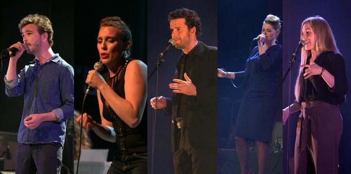 Renan Luce, Barbara Weldens, Alexis HK; Sarah Olivier, Eskelina (photos Nicolas Blanchard)