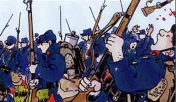16 AVRIL 1917: LA BATAILLE DU CHEMIN DES DAMES Parce que les filles de Louis XV, Marie-Adélaïde et Victoire, appelées également « Mesdames de France », l'empruntaient pour se rendre chez leur gouvernante au Château de la Bove, près de Vauclair, et qu'elles auraient obtenu que le mauvais chemin du plateau soit pavé pour faciliter le passage de leur carrosse royal, on a appelé cette route le Chemin des Dames. C'est en une toute autre circonstance que ce nom deviendra célèbre. La bataille du Chemin des Dames, dite «offensive Nivelle», est lancée les 16 et 17 avril 1917, par un temps glacial, sur un front de près de 40 km : c'est partout un échec sanglant, ici comme dans la plaine champenoise voisine ; l'infanterie française est hachée par les mitrailleuses allemandes. Après une relance de l'offensive le 5 mai, le fiasco est définitif le 8. Le 15 mai, Nivelle est remplacé par Pétain à la tête de l'armée française...
