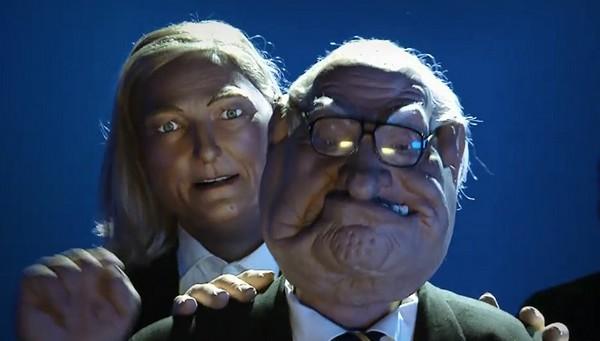 Marine et Jean-Marie Le Pen, par les Guignols de l'info (DR)