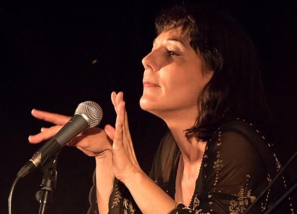 Nathalie Miravette à Pourchères (photo Marie Olivier)