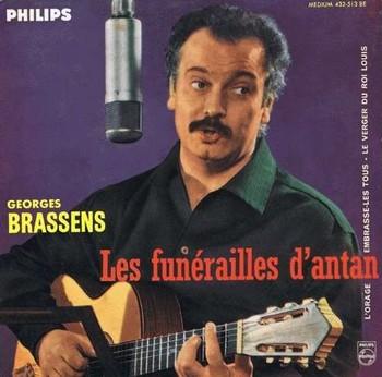 Brassens Les funérailles d'antan 1960