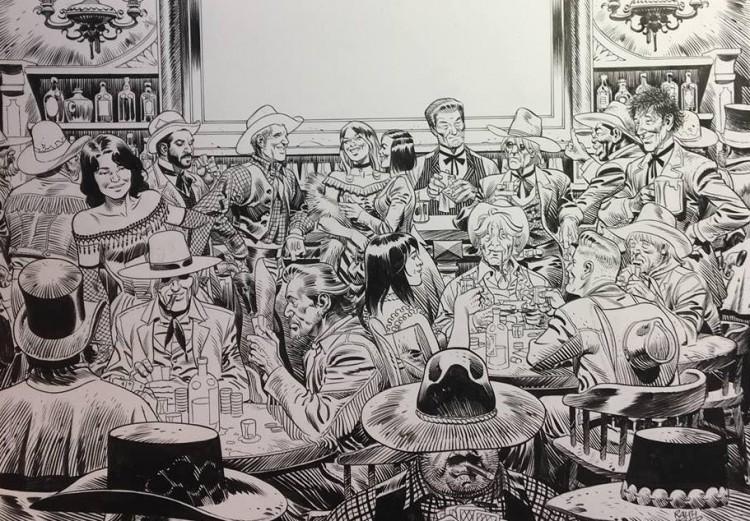 Dans la Tribu de Monsieur Eddy, amusez-vous à tous les reconnaître (dessin Ralph Meyer)