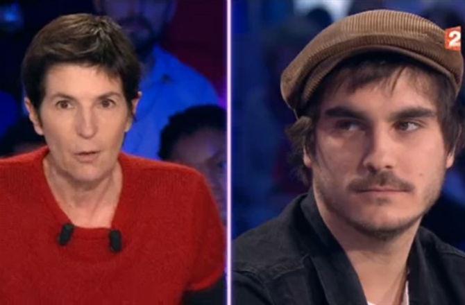 Christine Angot vs Gauvain Sers (copie d'écran)