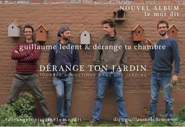 Après les concerts à domicile, voici les concerts dans le jardin. Une tournée exclusive de Guillaume Ledent, cet été dans vos potagers.