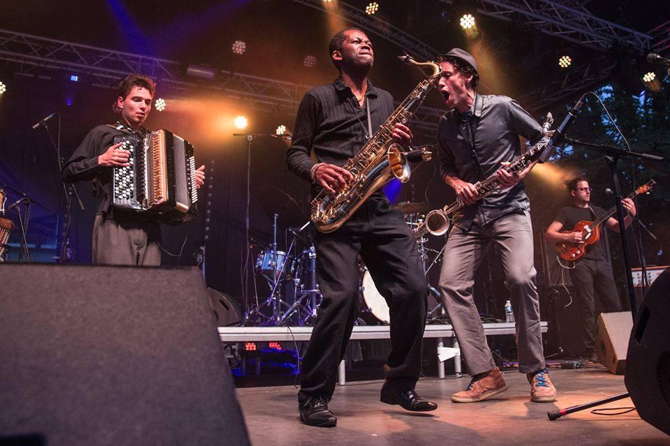 Gabriel Saglio & les Vieilles pies en concert en 2016, photo DR