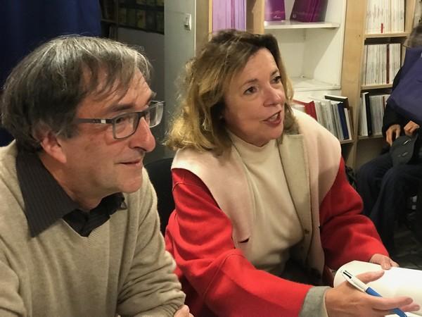 Michel Trihoreau, auteur, et Annie Butor, préfacière (photo Marine Trihoreau)