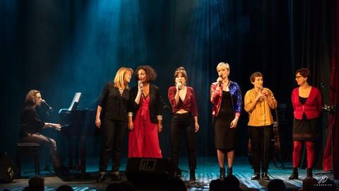 Agnès Bihl, Stef, Garance, Gervaise, Pauline Paris et Stéphanie Berrebi © Jean-Didier Tiberghien