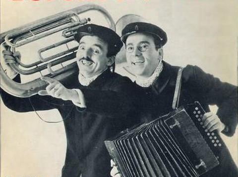 Dupont et Pondu (photo extraite d'une pochette de disque)