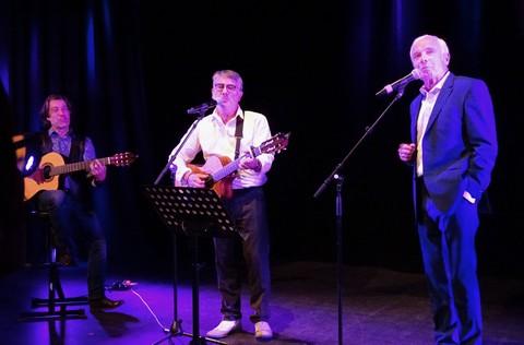 Erwens, Serge Ménard et Pierre Douglas chantent Brassens (photos Michel Trihoreau)