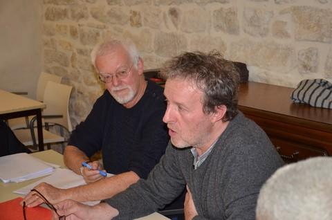 Le président de Barjac m'enchante, Jean-Michel Bovy, et Jean-Claude Barens (photo non créditée)