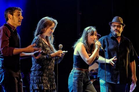 Aronc, Liz Van Deuq, Garance et Franck Halimi (photo Luc Allegier)