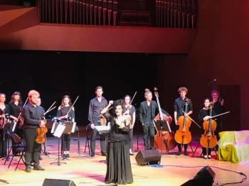 Sapho & l'orchestre conservatoire FCF Aix ©Fr. Cauwel