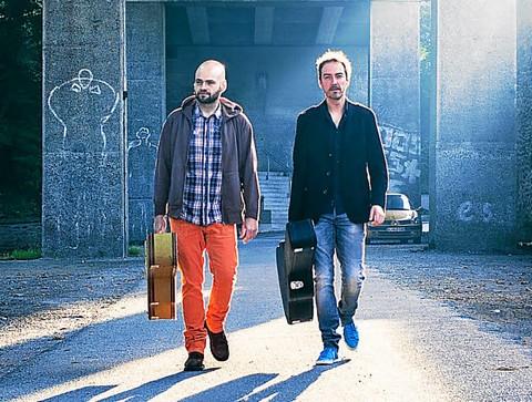 Vincent Dauvergne et Kevin Moal (photo Michel Poulain)