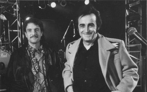 Dick Rivers et Francis Cabrel, 1991 (photo Sud-Ouest - Frédéric Girou)