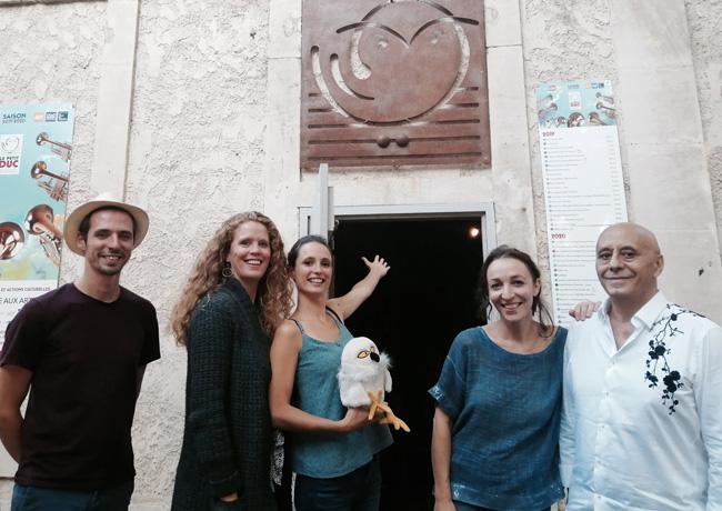 Joulik en sortie de résidence au Petit Duc, Myriam Daups, Gérard Dahan