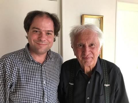 Matthias Vincenot et Marcel Amont (photo non créditée)