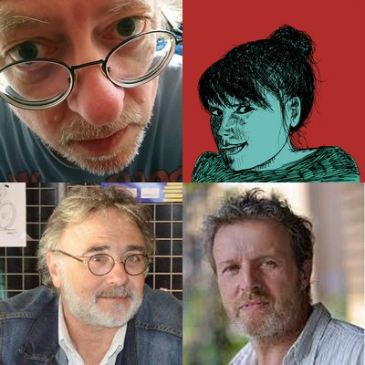 L'équipe du livre : Michel Kemper, Lily Luca, Jean-Marc Héran, Jean-Claude Barens