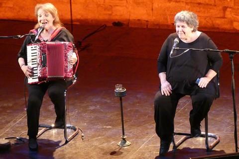 Michèle Bernard et Monique Brun (photo Anne-Marie Panigada)