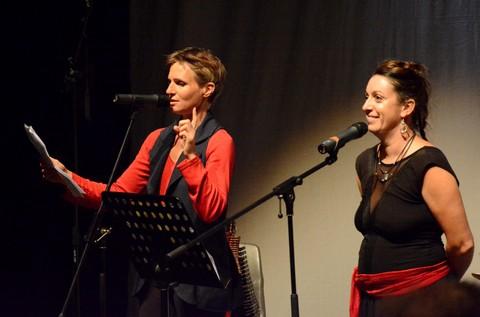 Adeline Guéret et Marie Mazille (photo Benjamin Bultel _ Le Crieur de la Villeneuve)